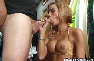 Lustful busty mature gf Roxi gladly shows her packing monster riding skills