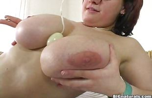 Delicious brunette mature Mandy May with firm tits blowing well