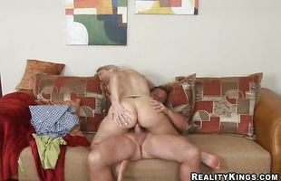 Gorgeous busty blonde mature Celestia got down and dirty with lad she fell in love with