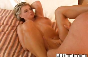 Nude brunette babe Vicky Vette gets doggy styled by lover