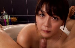 Alluring mature Miho Ichiki with impressive tits receives a pulsating love rocket in her wet twat