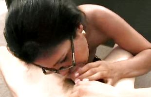 Tempting latin Isabella with massive natural tits pleasures one big fat dangler