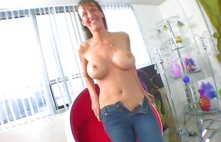 Sassy mature floosy Brianna Stone is riding a rock hard fuck wang in the middle of the day