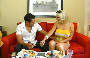 Sassy blonde mature Carmella Bing and male are fucking like wild animals in the middle of the day
