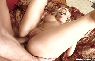 Strong lover has his large rod swallowed by filthy busty milf Brooke Haven