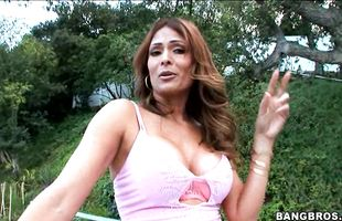 Stupendous latin brunette mom Monique Fuentes is ready for some incredible banging