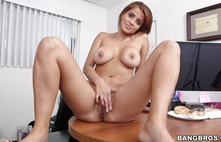 Sex appeal latin brunette mature Bianca is sucking dick like a pro, and enjoying as much as pal