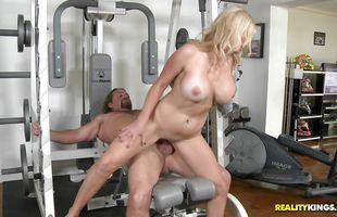 Alluring mature blonde girlfriend Ingrid Swenson is ready for intense and hot banging