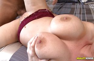 Astounding mature Rachel Love with curvy tits seems innocent but rides lovestick like a pro