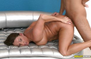 Hot brunette girlfriend Stacie Starr did her best to satisfy playmate