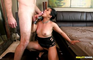 Magical busty bimbo Lucky Starr likes to get sperm all over her face