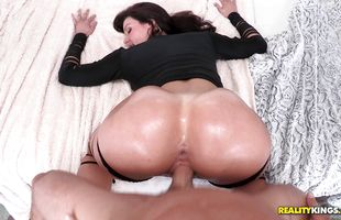 Big hard cock makes cute mature gal Kendra Lust's mouth water and pussy drip
