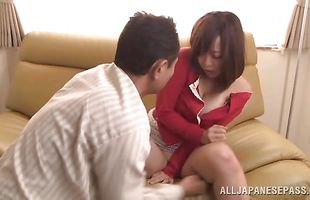 Hot-tempered Kaori eagerly impales her love tunnel on a hard prick