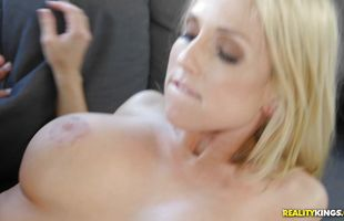 Horny blonde Christie Stevens with massive tits 's juice cunt receives a thorough and fierce dicking