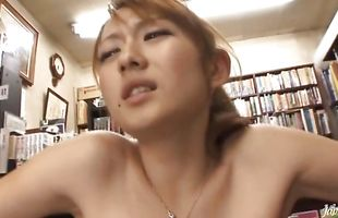 Delightful mature Reon Otowa with curvy tits sucks and rides a long love stick