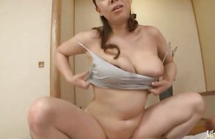 Cute milf with large tits gets fiercely destroyed