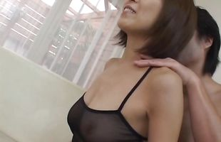 Enticing mature Jun Kusanagi is having sex with a buddy