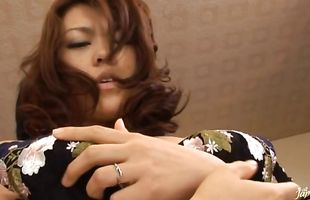 Horny busty mature babe Reiko Nakamori enjoys her copher being thoroughly plowed