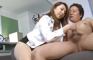 Fresh mature Yumi Kazama decided to suck a pal