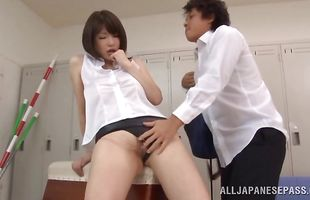 Amazing Anri Okita is a real pro when it comes to sucking playmate's dong because she likes doing it