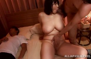 Foxy babe Rin Aoki rides a hard dick so perfectly