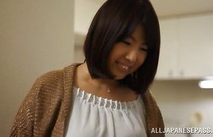 Exquisite honey Rin Aoki is about to have casual sex with man who cummed to her