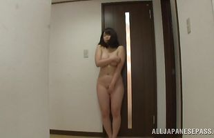 Enchanting mature girlfriend Homare Momono with big tits gives an blowjob before being banged