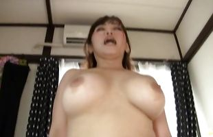 Stunning mom Nana Megumi got fucked until her hole ended up creampied just the way she likes it