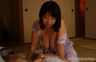 Staggering sweetheart Rin Aoki has passionate sex with her perverted pal