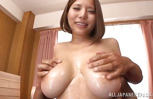 Wonderful mature diva Ruri Saijo's soaking wet slit is getting fucked the way she likes