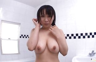 Cute bimbo Yuuki Maeda with big tits is in heaven while riding a hard dick