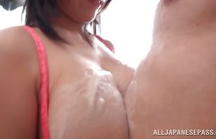 Delicious girlfriend with firm tits loves a big lever