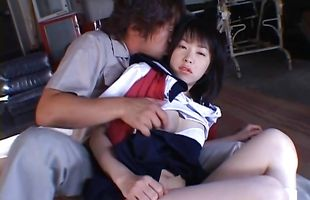 Stupefying Kasumi Uehara with large tits 's perfect pussy cheerfully takes a thick boner
