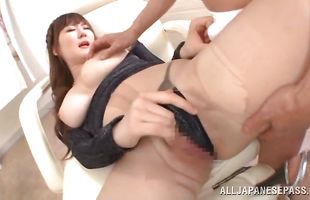 Heavenly Momoka Nishina receives a massive cock in her tight pussy