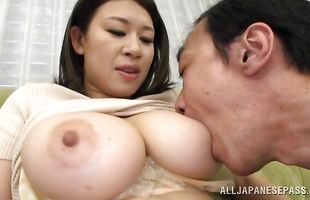 Overwhelming mature hottie Suzuna Komiya with huge tits is cheating on her husband for a while now just for fun