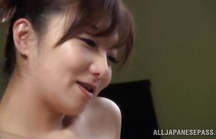 Brutal fuckmate has tasty busty mature Mio Takahashi's slit wrapped around his stiff rod