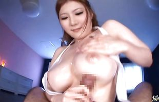 Lustful busty mature gf Momoka Nishina gets her cunny eaten out and banged