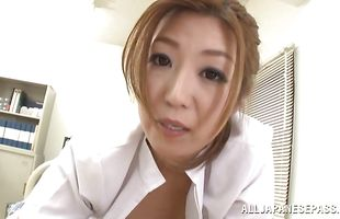 Playful sweetie Naho Hazuki gets her wet cunny bashed with vigor