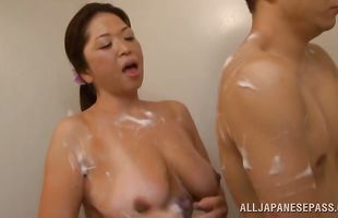 Gorgeous cougar Natsuko Kayama is really easy to pick up and fuck