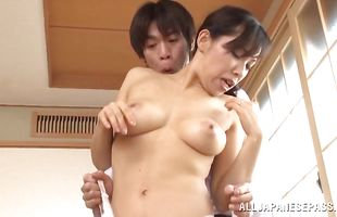 Prurient mature beauty Yukino Shindou with a vag fucking flexi style
