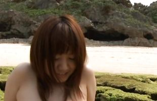 Exquisite maiden Meguru Kosaka teases a boyfriend before riding his thick phallus