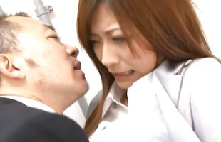 Gorgeous mature Haruki Sato whimpers on a throbbing dink