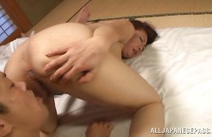 Appetizing busty Ayano Murasaki didn't have enough of money, so she spread her legs wide