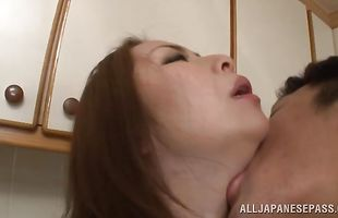 Astounding busty Aoi Aoyama is ready for cooter slamming