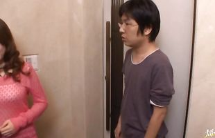 Fellow has his large lever swallowed by captivating mature honey Rio Hamasaki