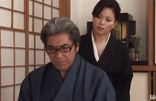 Hot-tempered busty mature Miki Sato needs her wet putz slammed by her pussy tester