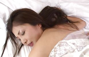 Beguiling busty mature Chisa Kirishima has her perky titties squeezed while riding cock