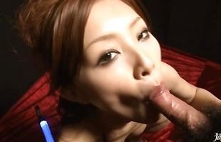 Frisky mature Suzuka Ishikawa sucking and fucking her fuckmate with so much passion