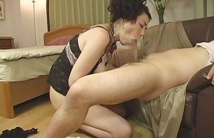 Extraordinary mature Kyoko Misaki has her sweet twat thoroughly eaten out