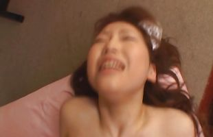 Divine hottie Ai Sayama loves having her pierced twat pounded with effort